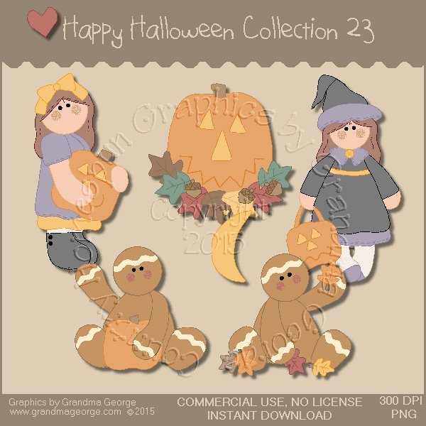 Happy Halloween Graphics Collection Vol. 23