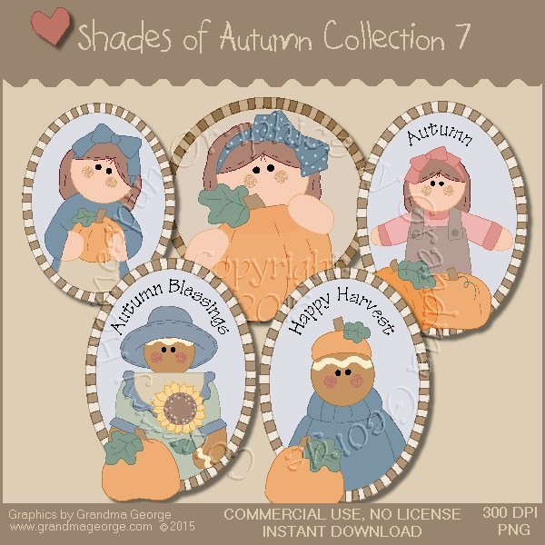 Shades of Autumn Graphics Collection Vol. 7