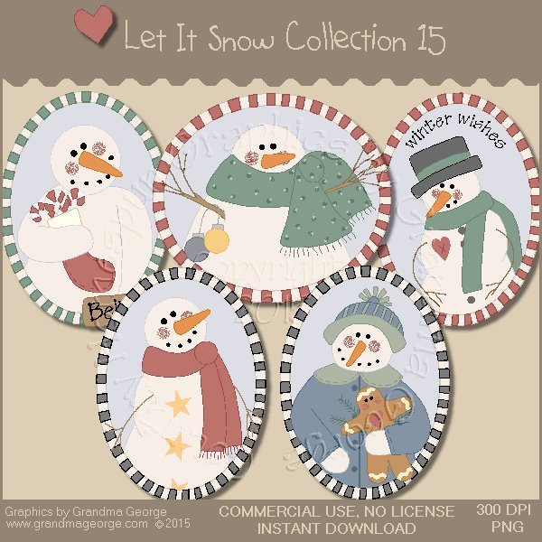 Let It Snow Country Graphics Collection Vol. 15