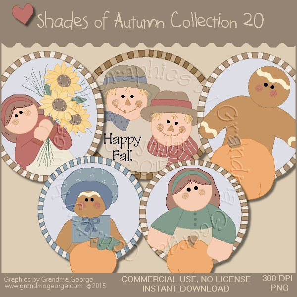 Shades of Autumn Graphics Collection Vol. 20