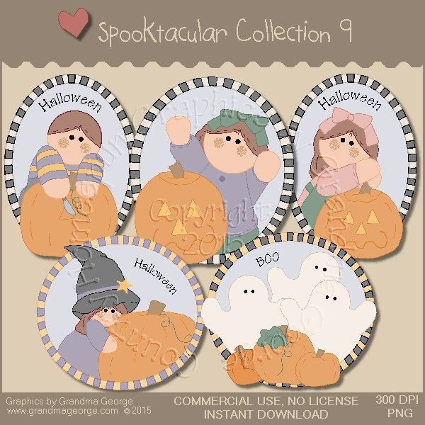 Spooktacular Halloween Graphics Collection Vol. 9