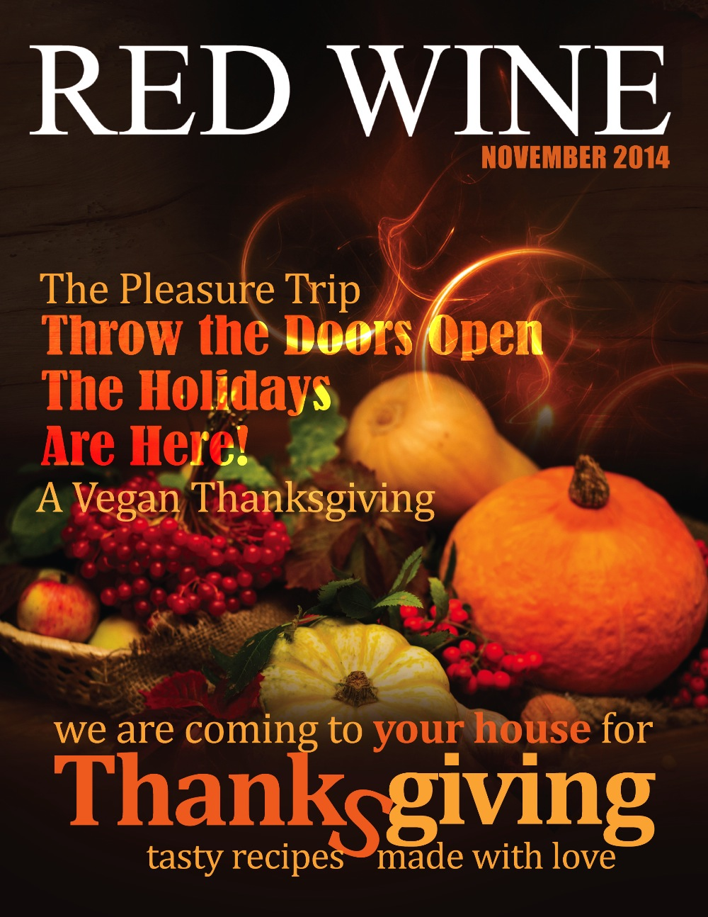 november issue of red wine magazine featuring an article i wrote about my life's experiences
