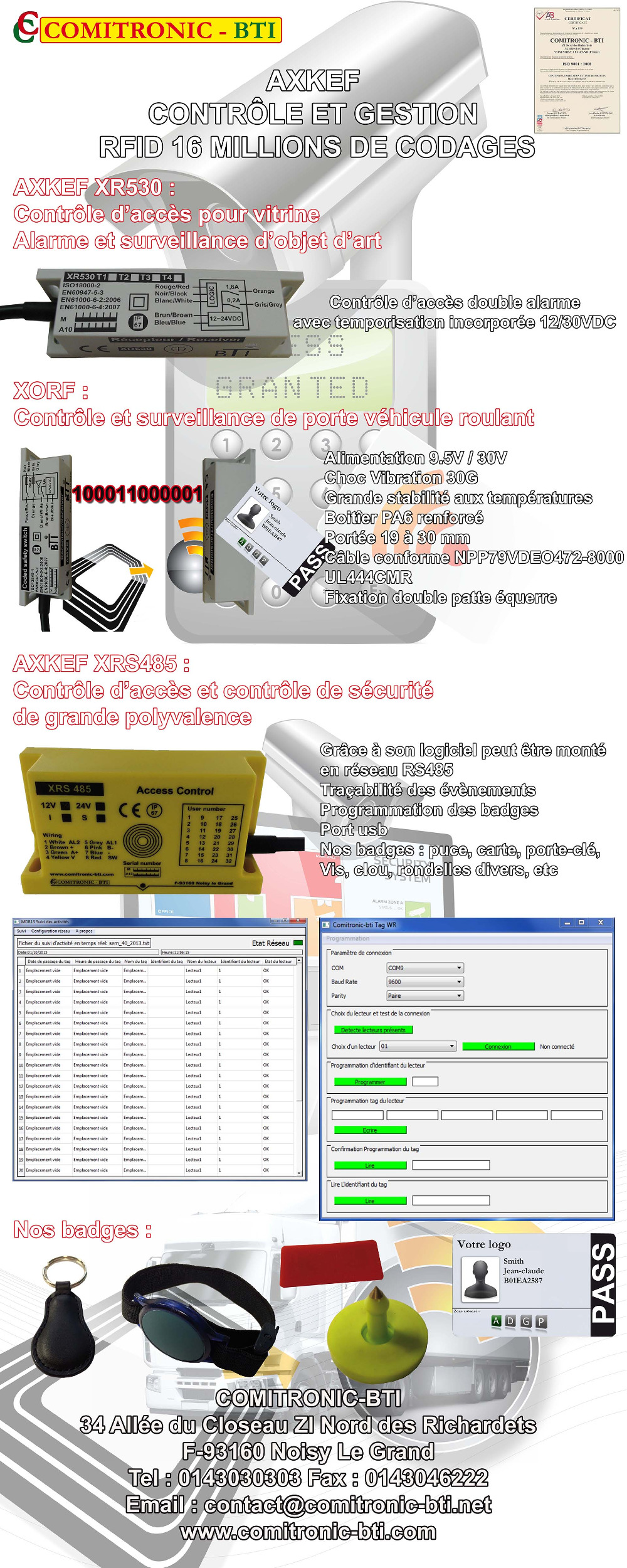 Roll-up AXKEF RFID