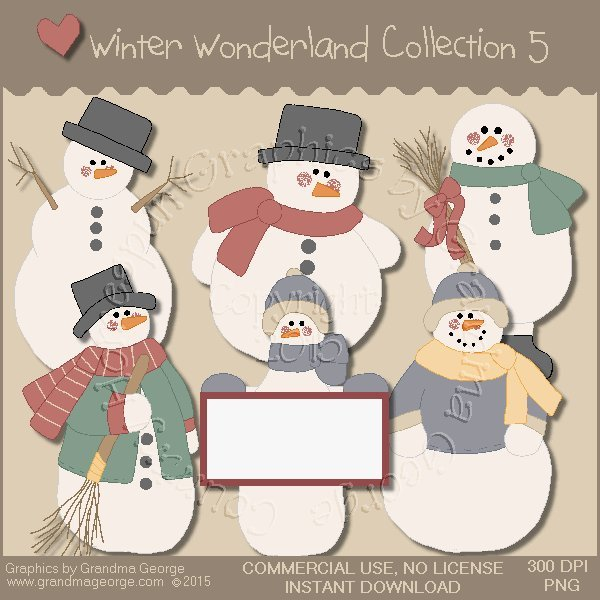 Winter Wonderland Country Graphics Collection Vol. 5