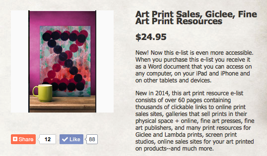 Art Print Resources: Sales, Publishing, Galleries and More