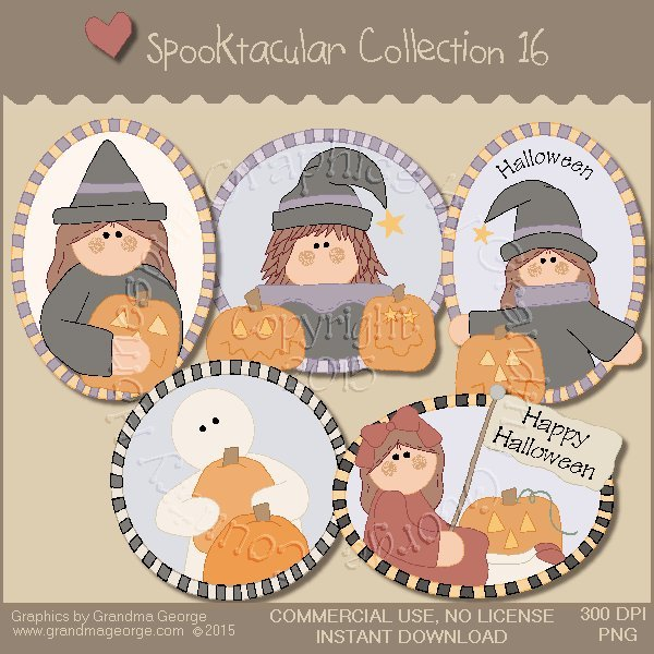 Spooktacular Halloween Graphics Collection Vol. 16