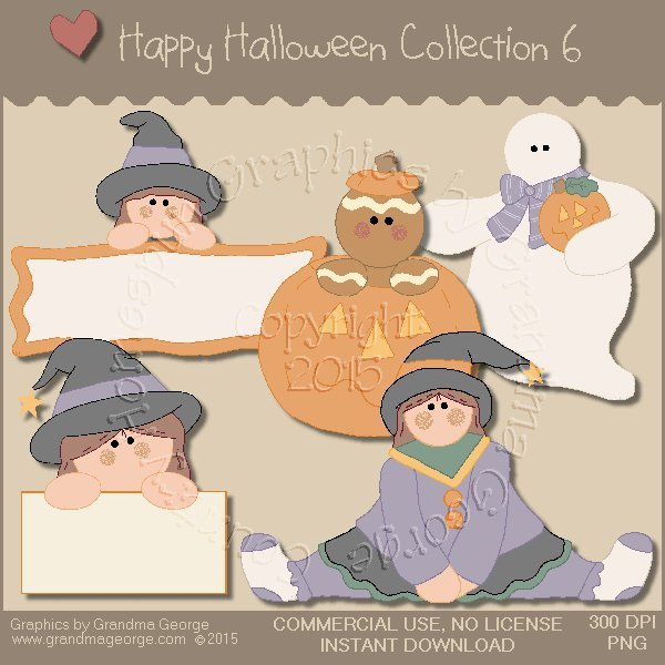 Happy Halloween Graphics Collection Vol. 6