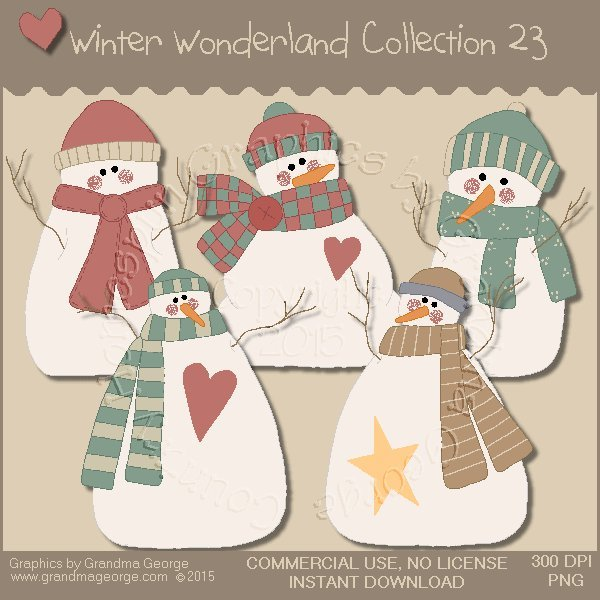 Winter Wonderland Country Graphics Collection Vol. 23
