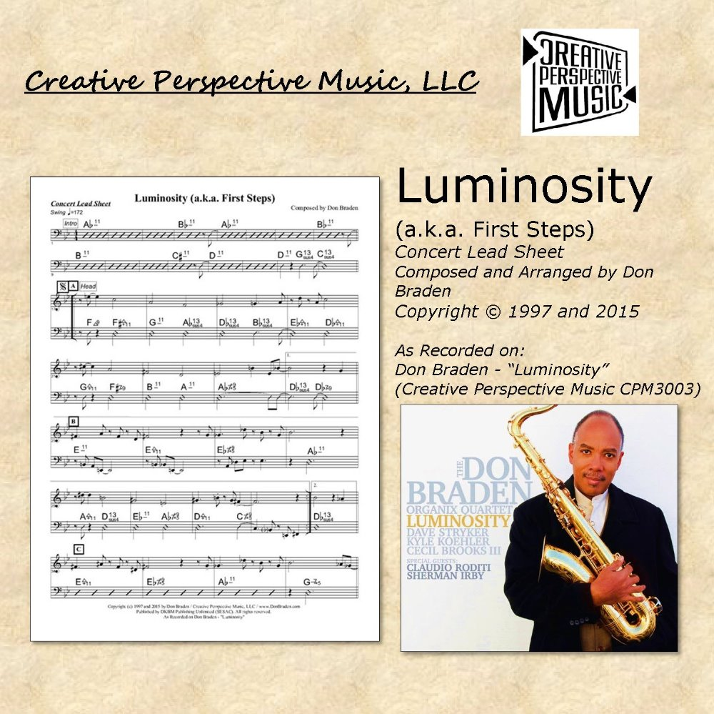 Luminosity (a.k.a. First Steps) - Concert Lead Sheet